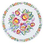 Блюдо настенное Щедрый дон (вар. Цветы)