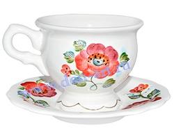 Чайная пара Анастасия (вар. Маки)