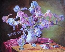 Картина Натюрморт Ирисы