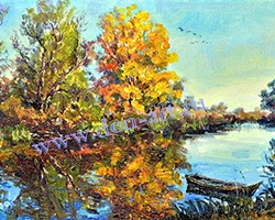 Картина Осень, р. Сухой Донец