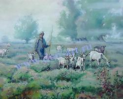 Картина Пастух (бумага-пастель)