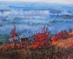 Картина Туман на Дону