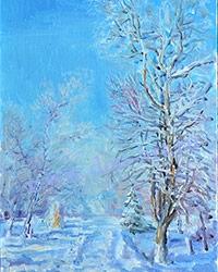 Картина В парке зимой