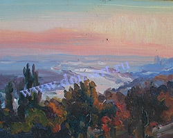 Картина Вечер в Пухляковке