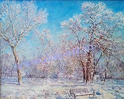 Картина Зима в парке