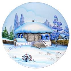 Тарелка Отчий дом Шолохова (вар. Зима)