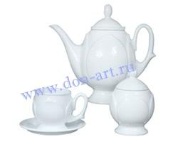 Набор чайный Лазоревый цветок (вар. без росписи)