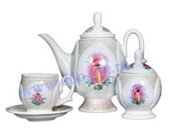 Набор чайный Лазоревый цветок (вар. Сетка)