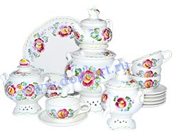 Набор чайный Яблочный спас (вар. Цветы)
