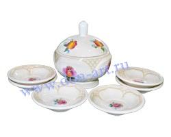 Набор десертный Лазоревый цветок (вар. Сетка)