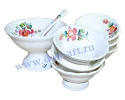 Набор десертный Цветочный (вар. Розы)