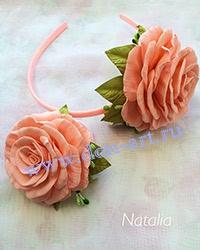 Набор украшений розово-персиковый Н5
