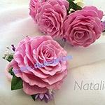Набор украшений розовый Н6