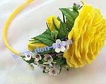 Набор украшений желтый Н4