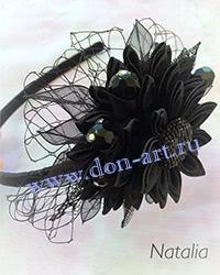 Ободок черный О4