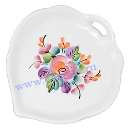 Подставка для пакетика чая Цветочная (вар. Лепесток)