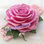 Повязка ажурная розовая П2