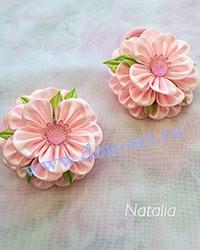 Резинки Розовые атласные (пара) Р13