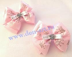 Резинки розовые с короной (пара) Р14