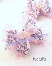 Резинки сиренево-розовые (пара) Р17