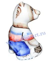 Скульптурка Медведь-футболист