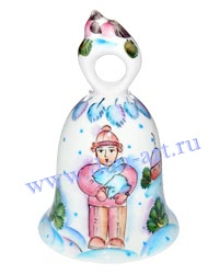 Сувенир Колокольчик Снегири (вар. Зима)