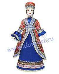 Сувенир Кукла казачка (в синем)
