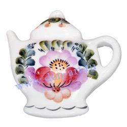 Сувенир с магнитом Чайник (вар. Цветы)