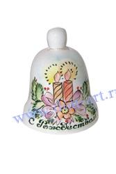 Сувенир Колокольчик Праздник (вар. Свечи)