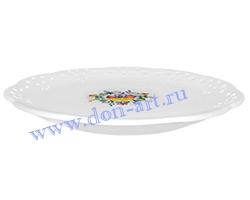 Тарелка десертная Ретро большая (резная)