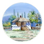 Тарелка Отчий дом Шолохова (вар. Лето)