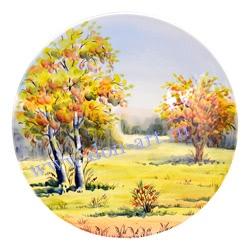 Тарелка Утро туманное - Осень