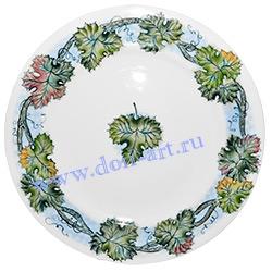 Тарелка Веселый горошек (Листья винограда)