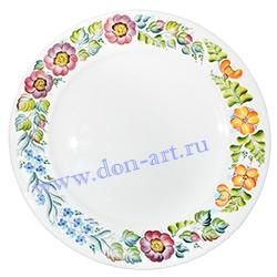 Тарелка Веселый горошек (вар. Цветы)